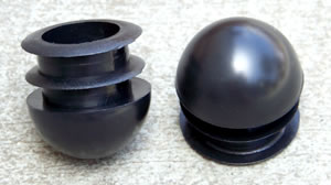 domed caps round